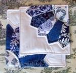 cobalt blue dresden plate trivets